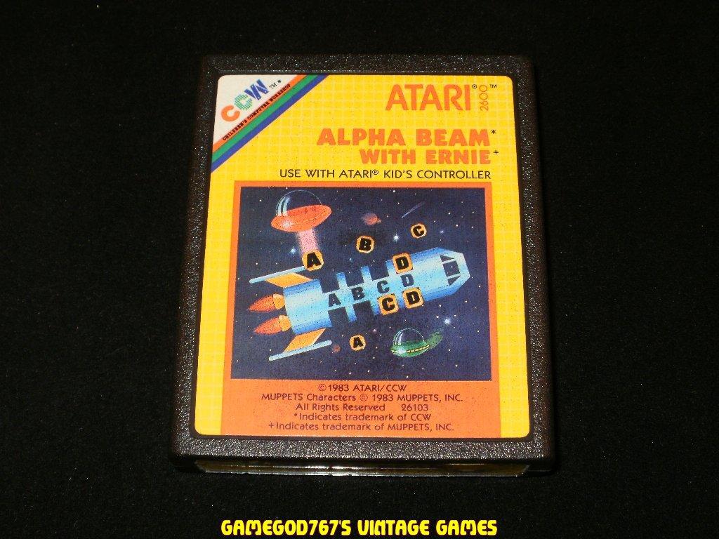 Alpha Beam with Ernie - Atari 2600