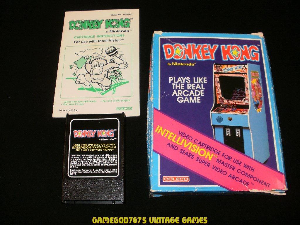 Donkey Kong - Mattel Intellivision - Complete