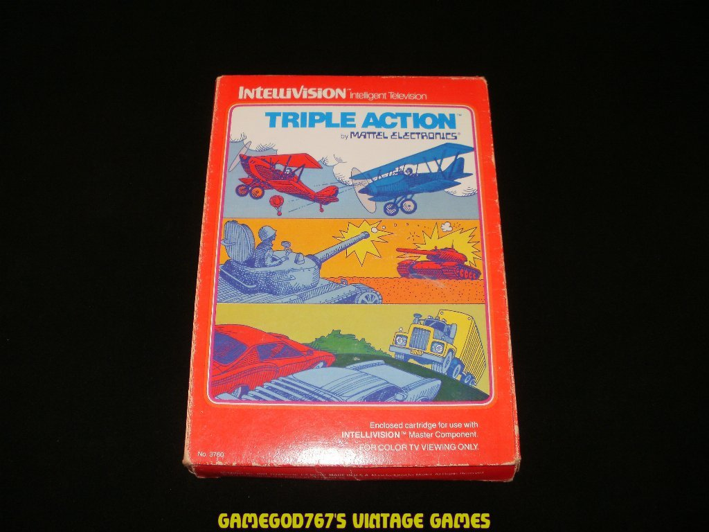 Triple Action - Mattel Intellivision - Complete