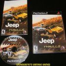Jeep Thrills - Sony PS2 - Complete CIB