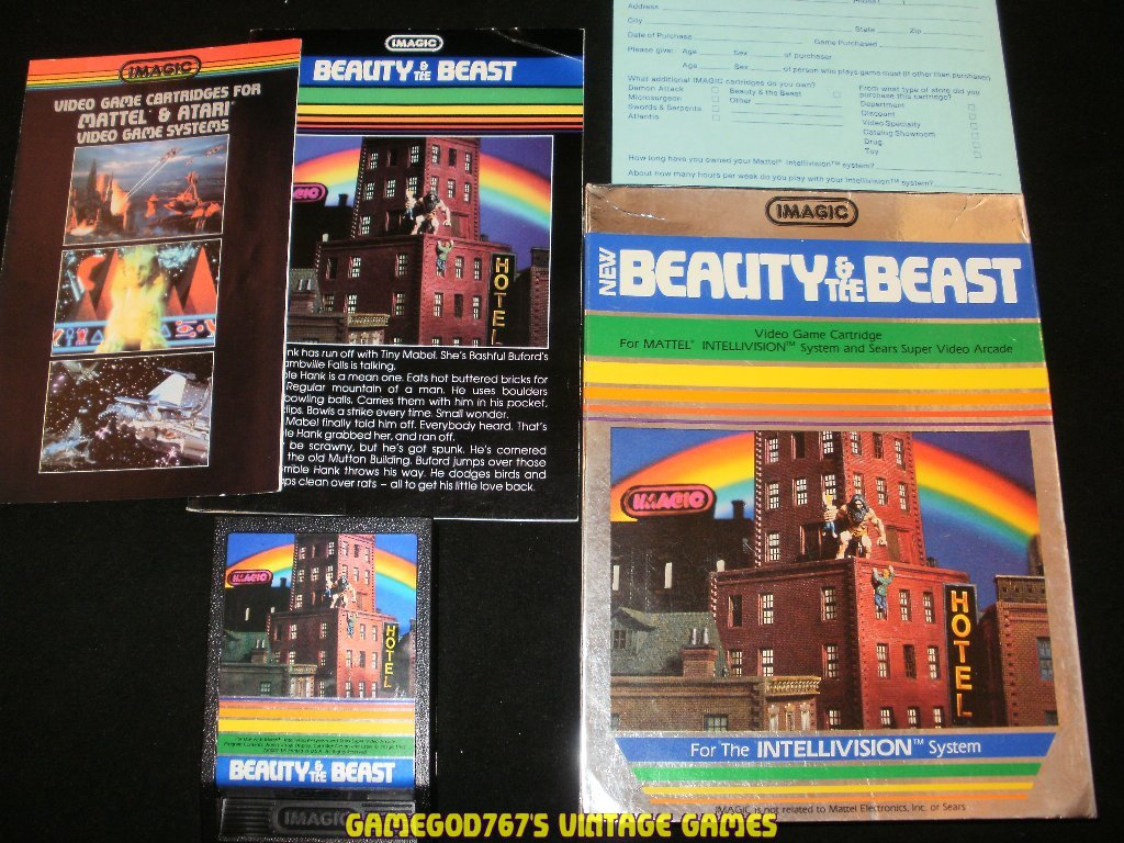 Beauty & the Beast - Mattel Intellivision - Near Complete (Overlays missing)