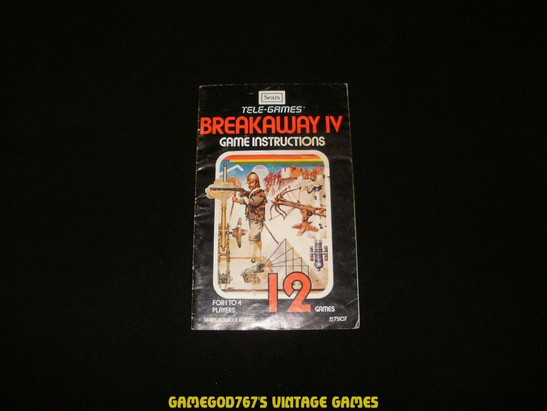 Breakaway IV - Atari 2600 - Manual Only