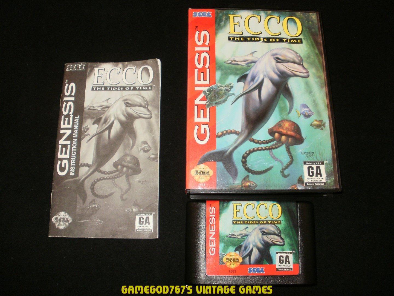 Ecco The Tides of Time - Sega Genesis - Complete CIB