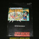 Super Mario All Stars - SNES Super Nintendo - Manual Only
