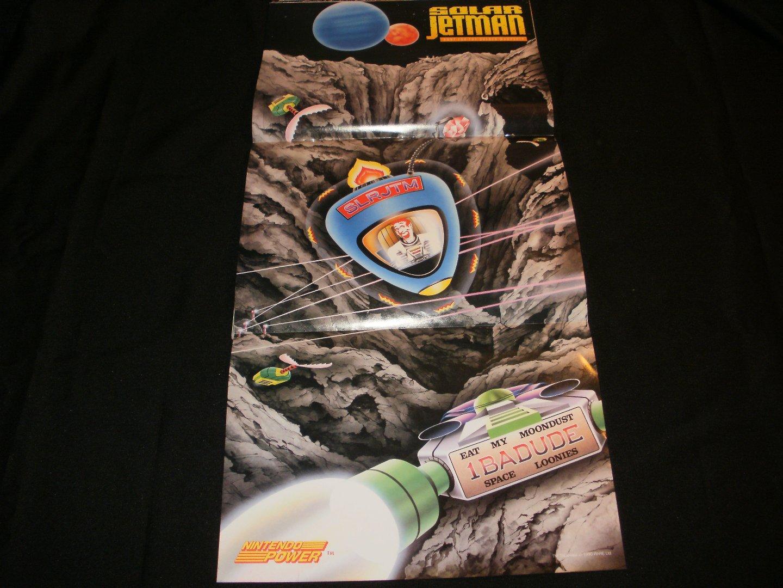 Solar Jetman Poster - Nintendo Power October, 1990 - Never Used