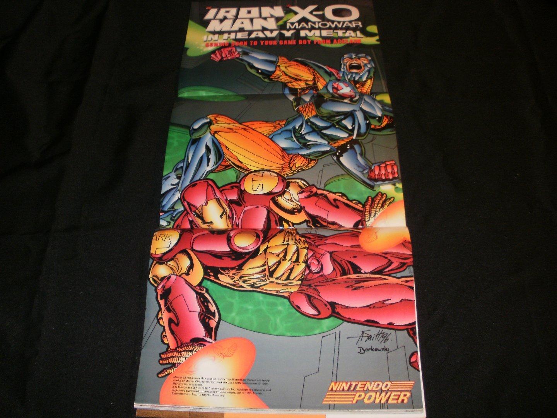 Iron Man Poster - Nintendo Power June, 1996 - Never Used