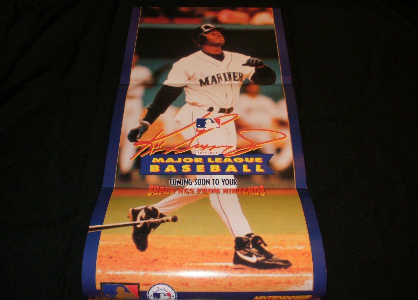 Ken Griffey Jr MLB Poster - Nintendo Power March, 1994 - Never Used