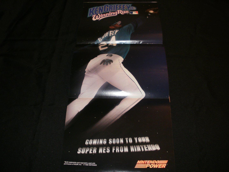 Ken Griffey Jr Winning Run Poster - Nintendo Power February, 1996 - Never Used