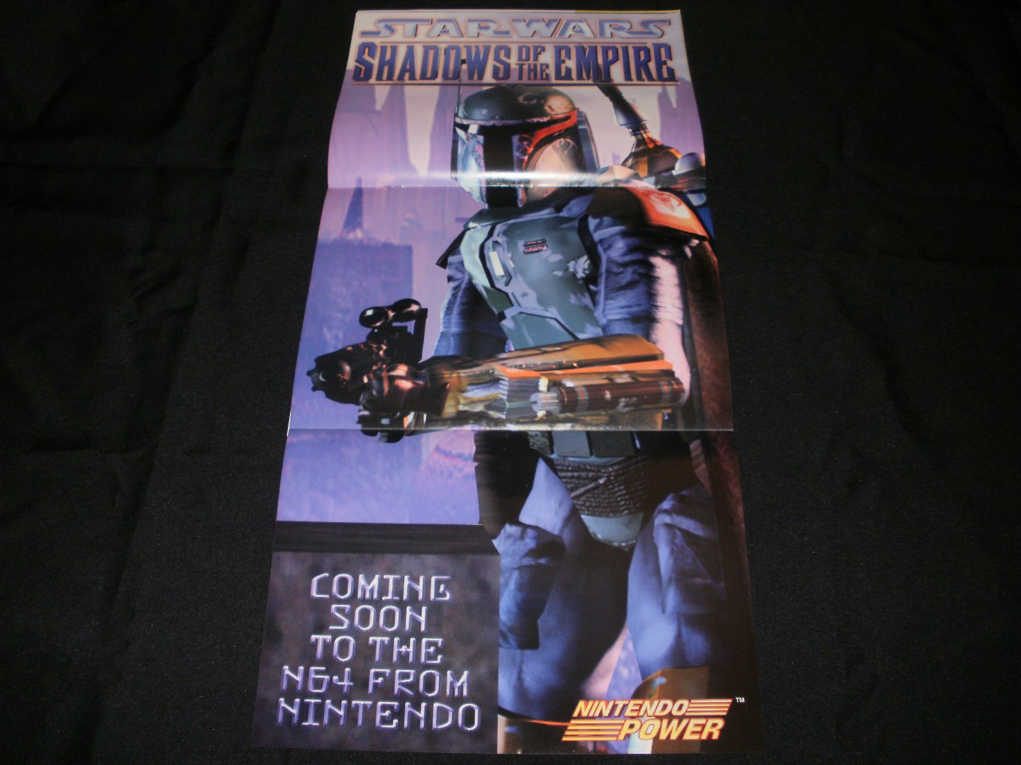 Star Wars Shadows of the Empire Poster - Nintendo Power December, 1996 - Never Used