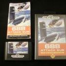 688 Attack Sub - Sega Genesis - Complete CIB