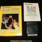 Slam Dunk Super Pro Basketball - Mattel Intellivision - Complete CIB - Rare