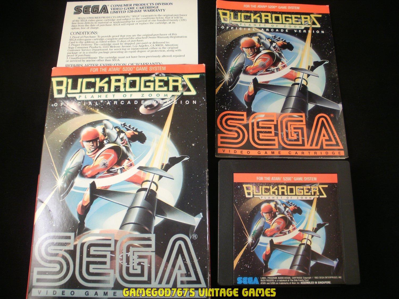 Buck Rogers Planet of Zoom - Atari 5200 - Complete CIB