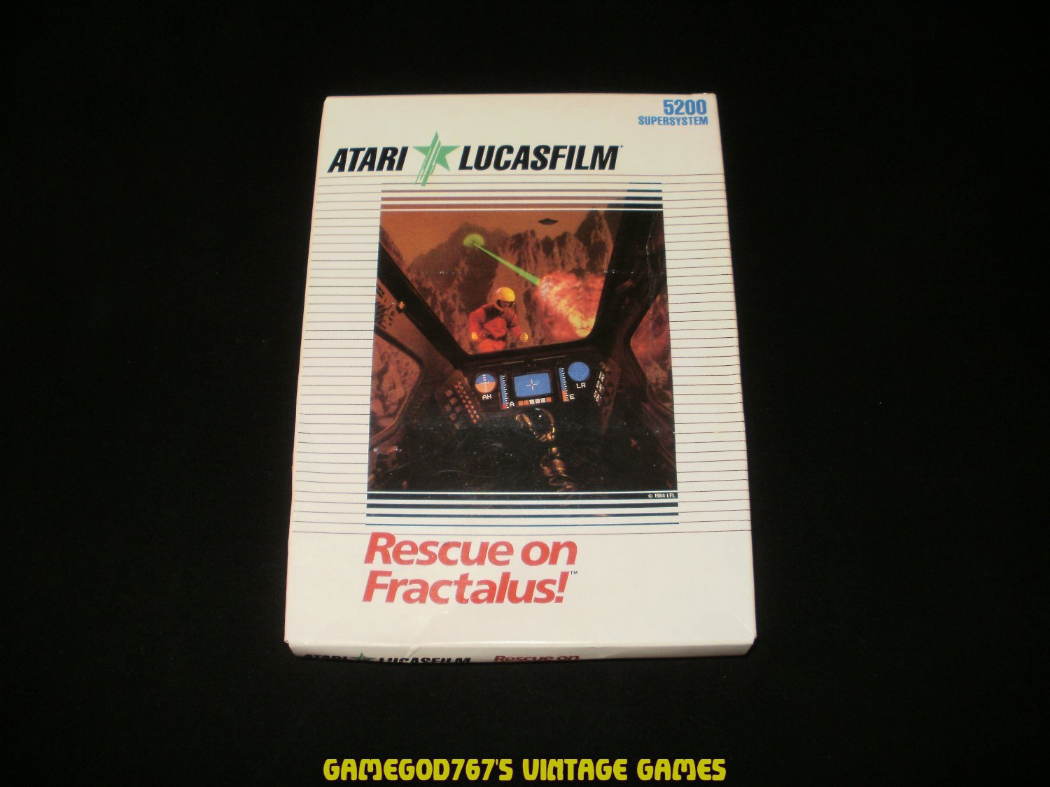 Rescue on Fractalus - Atari 5200 - Brand New Factory Sealed