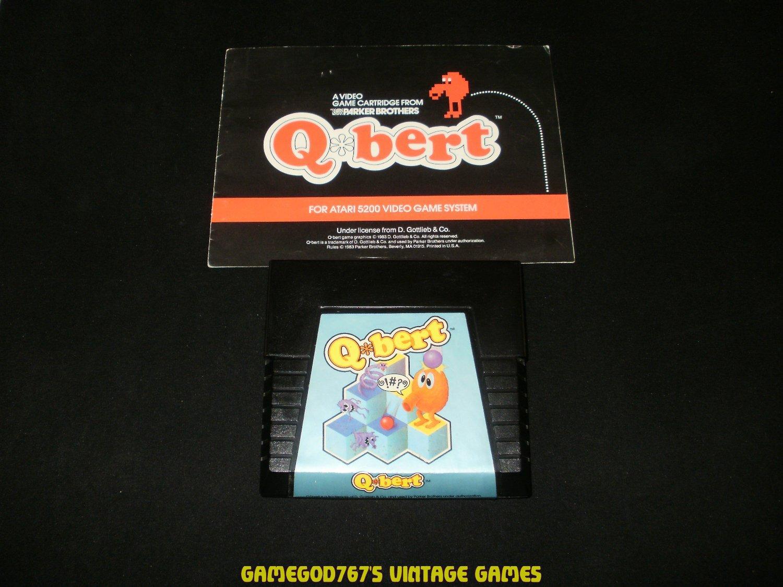 Qbert - Atari 5200 - With Manual