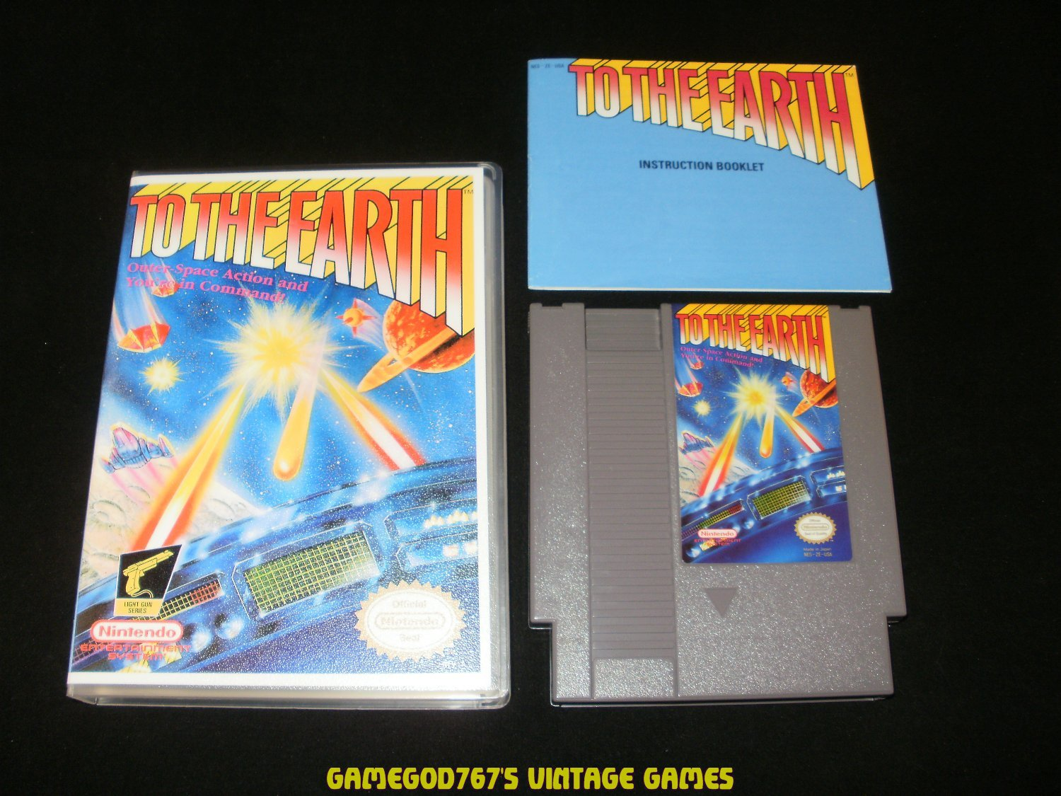 To the Earth - Nintendo NES - With Manual & New Custom Case