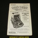 Pac-Man - Coleco 1981 Tabletop System - Manual Only