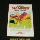 Stampede - Atari 2600 - Manual Only