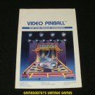 Video Pinball - Atari 2600 - Manual Only