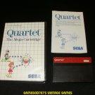 Quartet - Sega Master System - Complete CIB