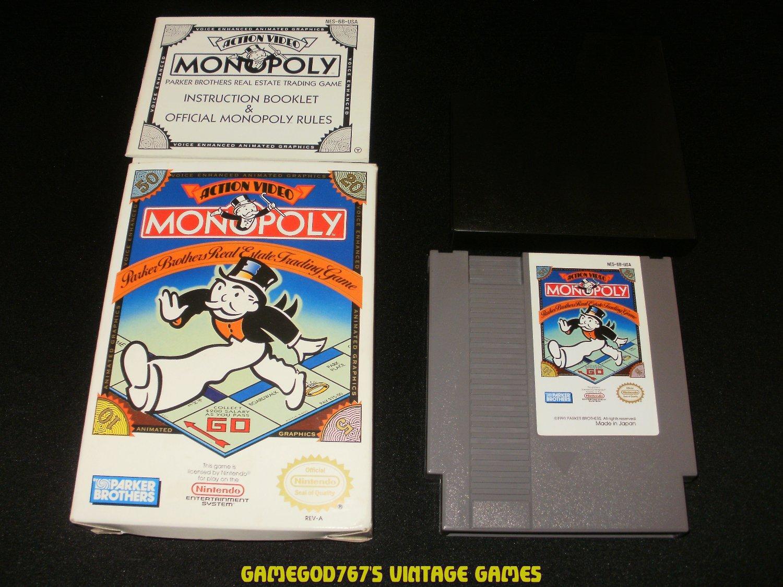 Monopoly - Nintendo NES - Complete CIB