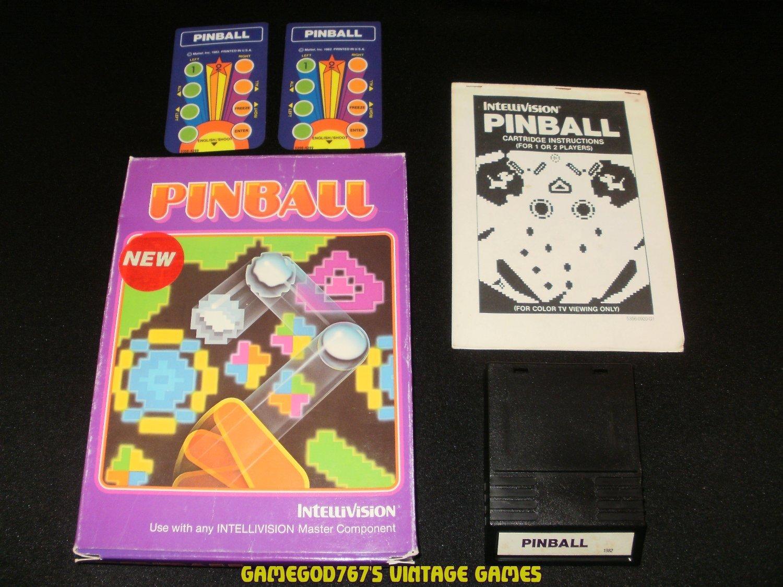 Pinball - Mattel Intellivision - White Label - Complete CIB