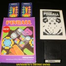 Pinball - Mattel Intellivision - White Label - Complete CIB