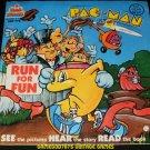 Pac-Man Run For Fun - 33 1/3 RPM Record - Kid Stuff Records 1980 - Rare