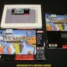 Wicked 18 - SNES Super Nintendo - Complete CIB