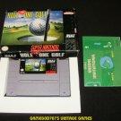 HAL's Hole-In-One Golf - SNES Super Nintendo - Complete CIB