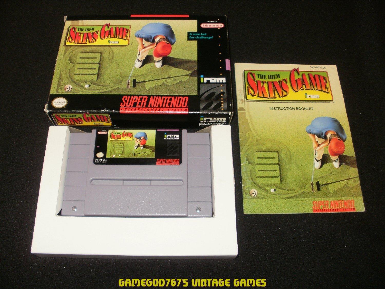 Irem Skins Game - SNES Super Nintendo - Complete CIB