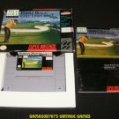 True Golf Classics Pebble Beach Golf Links - SNES Super Nintendo - Complete CIB