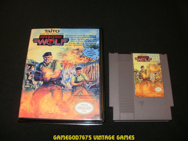 Operation Wolf - Nintendo NES - With New Bit Box Case
