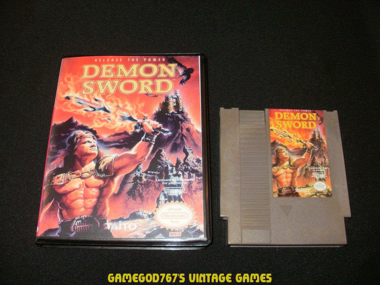 Demon Sword - Nintendo NES - With New Bit Box Case