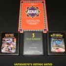 Racing Game Pack - Atari 2600 - 3 Games & Catalog