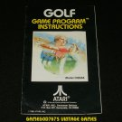 Golf - Atari 2600 - Manual Only