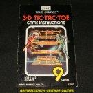 3D Tic Tac Toe - Atari 2600 - Sears Telegames Version - Manual Only