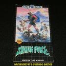 Shining Force - Sega Genesis - Manual Only