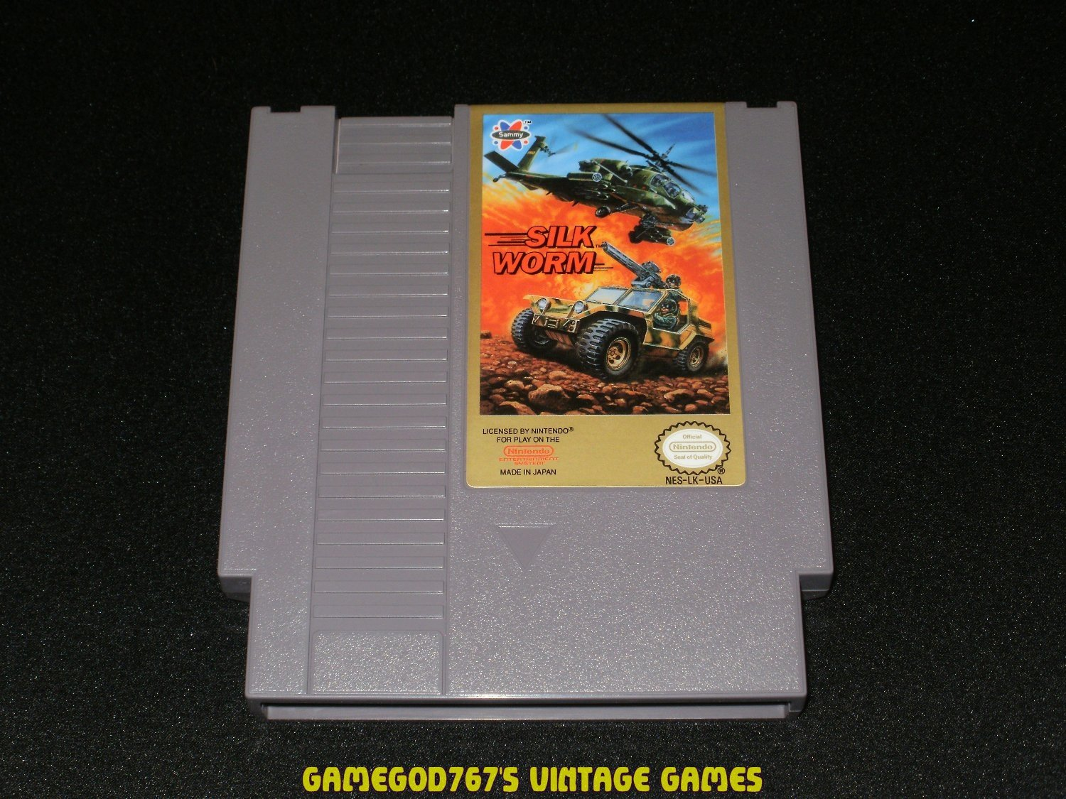 Silk Worm - Nintendo NES - With Cartridge Sleeve