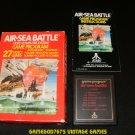 Air-Sea Battle - Atari 2600 - Complete CIB - 1977 Text Label Version