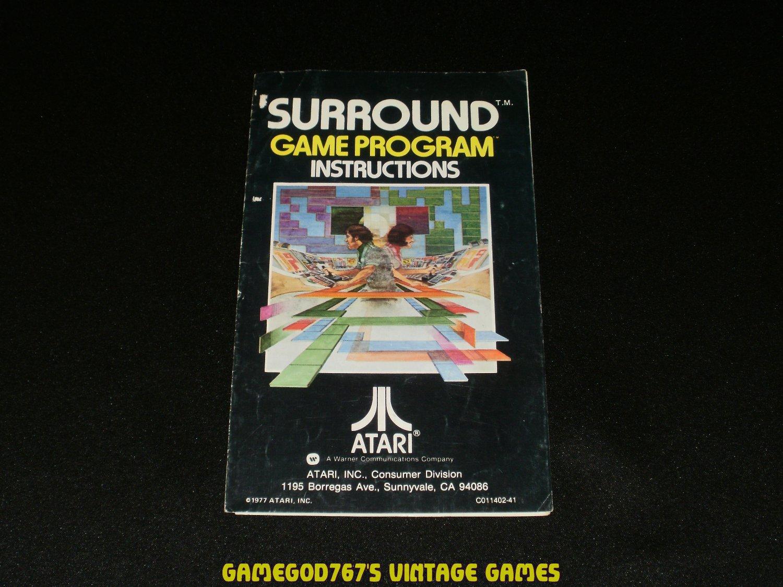 Surround - Atari 2600 - 1977 Manual Only