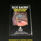 Slot Racers - Atari 2600 - 1978 Manual Only