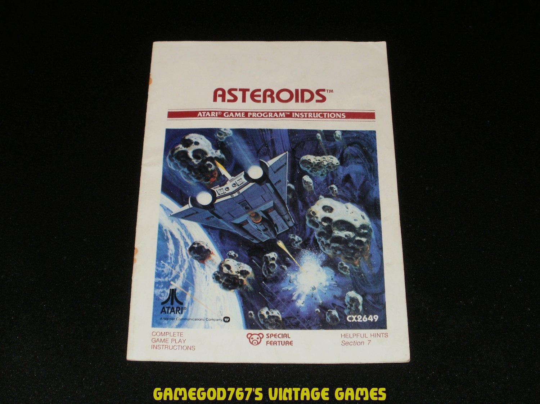 Asteroids - Atari 2600 - 1981 Manual Only