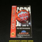 NBA Jam - Sega Genesis - 1994 Manual Only