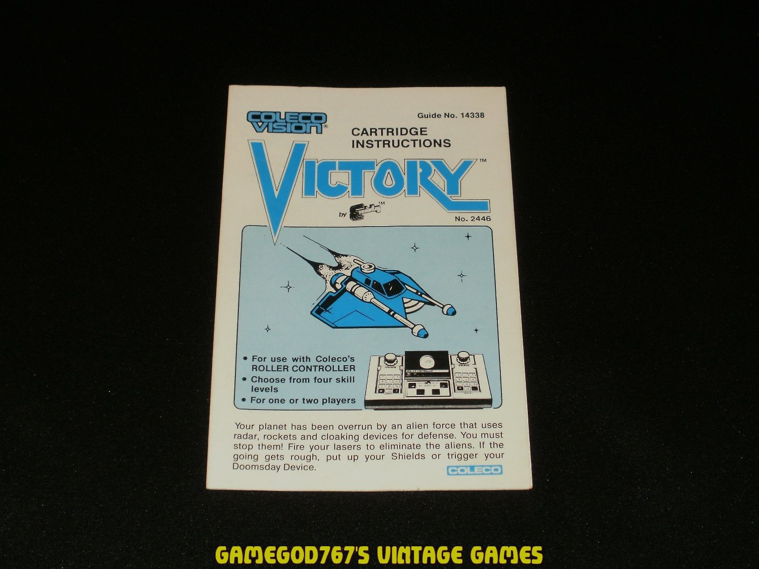 Victory - ColecoVision - 1983 Manual Only