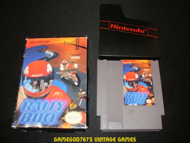 Rally Bike - Nintendo NES - With Box & Cartridge Sleeve