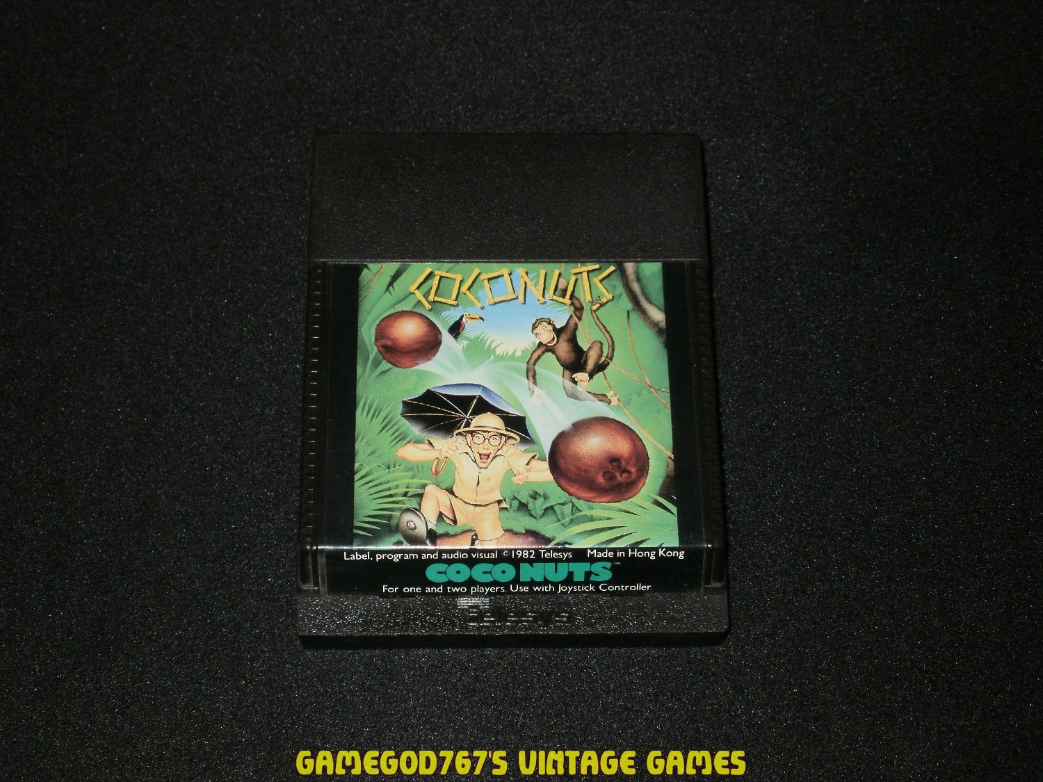 Coconuts - Atari 2600 - Flat End Cartridge Release