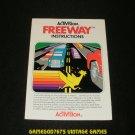 Freeway - Atari 2600 - 1981 Manual Only