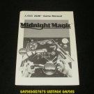 Midnight Magic - Atari 2600 - 1988 Manual Only