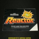 Reactor - Atari 2600 - 1983 Manual Only