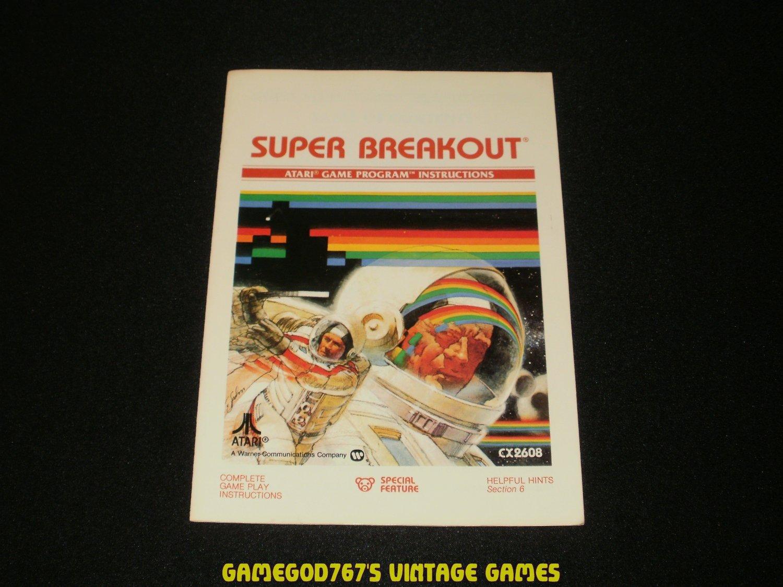 Super Breakout - Atari 2600 - 1981 Manual Only